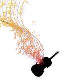 Η μουσική σημειώνει το έμβλημα Στοκ Φωτογραφίες