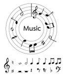 Η μουσική σημειώνει το διάνυσμα για τη διακόσμηση ή άλλη Στοκ φωτογραφίες με δικαίωμα ελεύθερης χρήσης
