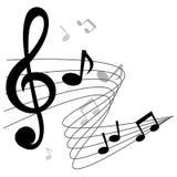 Η μουσική σημειώνει το διανυσματικό υπόβαθρο χορδών Στοκ εικόνες με δικαίωμα ελεύθερης χρήσης