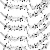Η μουσική σημειώνει το μουσικό υπόβαθρο Watercolor σημειώσεων - διανυσματικός εικονογράφος ελεύθερη απεικόνιση δικαιώματος