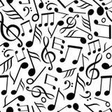 η μουσική σημειώνει το πρότυπο άνευ ραφής Στοκ φωτογραφίες με δικαίωμα ελεύθερης χρήσης