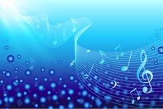 η μουσική σημειώνει το ύδ&omeg Στοκ Εικόνα