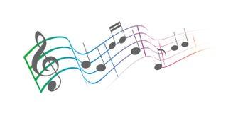 Η μουσική σημειώνει colorfull στοκ εικόνα