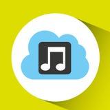 η μουσική σύννεφων μεταφορτώνει το συνδεδεμένο σχέδιο απεικόνιση αποθεμάτων