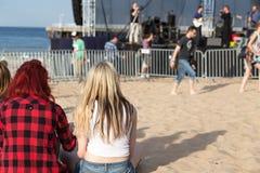 10η μουσική φεστιβάλ πλευρονηκτών. Στοκ Εικόνες