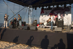 10η μουσική φεστιβάλ πλευρονηκτών. Στοκ Φωτογραφία