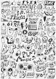 Η μουσική doodles έθεσε Στοκ Εικόνες