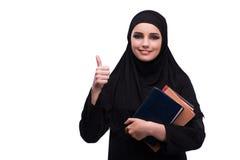 Η μουσουλμανική γυναίκα φόρεμα που απομονώνεται στο μαύρο στο λευκό Στοκ εικόνες με δικαίωμα ελεύθερης χρήσης