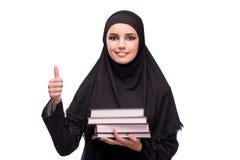 Η μουσουλμανική γυναίκα φόρεμα που απομονώνεται στο μαύρο στο λευκό Στοκ φωτογραφίες με δικαίωμα ελεύθερης χρήσης