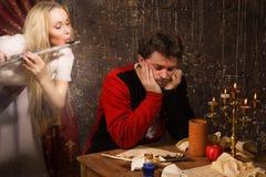 Η μούσα εμπνέει το συνθέτη Στοκ φωτογραφίες με δικαίωμα ελεύθερης χρήσης