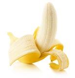 η μπανάνα ανασκόπησης απομόνωσε το λευκό Στοκ Φωτογραφία