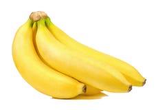 η μπανάνα ανασκόπησης απομόνωσε το λευκό Στοκ Φωτογραφίες