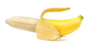 η μπανάνα ανασκόπησης απομόνωσε το λευκό Στοκ Εικόνα