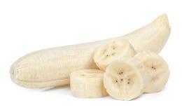 η μπανάνα ανασκόπησης απομόνωσε το λευκό Στοκ Εικόνες