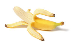η μπανάνα ανασκόπησης απομόνωσε το λευκό στοκ εικόνες με δικαίωμα ελεύθερης χρήσης