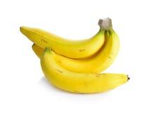 η μπανάνα ανασκόπησης που ψαλιδίζει το εύκολο αρχείο περιλαμβάνει το μονοπάτι ώριμο στην άσπρη εργασία Στοκ Φωτογραφίες