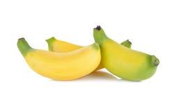 η μπανάνα ανασκόπησης που ψαλιδίζει το εύκολο αρχείο περιλαμβάνει το μονοπάτι ώριμο στην άσπρη εργασία Στοκ Φωτογραφία