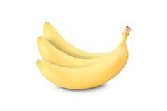 η μπανάνα ανασκόπησης που ψαλιδίζει το εύκολο αρχείο περιλαμβάνει το μονοπάτι ώριμο στην άσπρη εργασία Στοκ φωτογραφία με δικαίωμα ελεύθερης χρήσης
