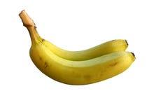 η μπανάνα απομόνωσε το λευκό στοκ εικόνα με δικαίωμα ελεύθερης χρήσης