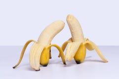 η μπανάνα ξεφλούδισε ώριμο Στοκ Εικόνα