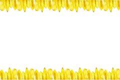 Η μπανάνα πελεκά τα γίνοντα πλαίσια εικόνων Στοκ εικόνα με δικαίωμα ελεύθερης χρήσης