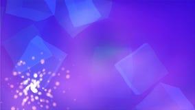 Η μπλε αφαίρεση cubis στο σαφές διάστημα με τα λαμπρά μόρια, το ελαφρύ και εύκολο υπόβαθρο, τρισδιάστατα δίνει το σκηνικό απεικόνιση αποθεμάτων