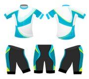 Η μπλε κίνηση χρωματίζει την αθλητική μπλούζα Στοκ Εικόνες