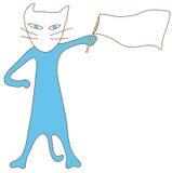 η μπλε σημαία γατών εμφανίζει Στοκ Εικόνα