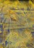 η μπλε συρραφή εγγράφου στροβιλίζεται κίτρινο Στοκ Φωτογραφίες