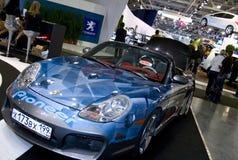 η μπλε Porsche Στοκ Εικόνες