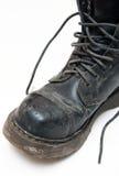 η μπότα δένει παλαιό Στοκ φωτογραφία με δικαίωμα ελεύθερης χρήσης