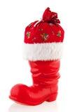 Η μπότα Χριστουγέννων με παρουσιάζει Στοκ εικόνα με δικαίωμα ελεύθερης χρήσης