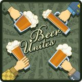 Η μπύρα ενώνει το θέμα Στοκ Εικόνα