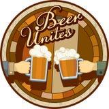 Η μπύρα ενώνει το θέμα Στοκ Εικόνες