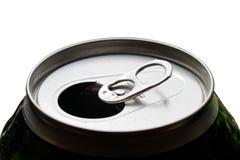 η μπύρα μπορεί ανοιγμένος Στοκ φωτογραφία με δικαίωμα ελεύθερης χρήσης