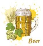 η μπύρα σύρει το χέρι ελεύθερη απεικόνιση δικαιώματος