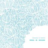 Η μπλε δαντέλλα ανθίζει το υφαντικό σχέδιο γωνιών πλαισίων Στοκ Εικόνες