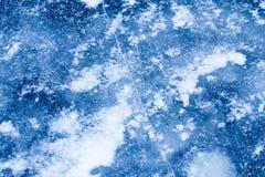 Η μπλε επιφάνεια πάγου Στοκ εικόνα με δικαίωμα ελεύθερης χρήσης
