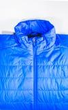 Η μπλε θερμή μονωμένη σύσταση του σακακιού, θερμός ελαφρύς μονώνει Στοκ Εικόνα