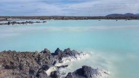 Η μπλε λιμνοθάλασσα, Ισλανδία Στοκ Εικόνες