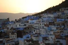 Η μπλε πόλη Chefchaouen, Μαρόκο στοκ εικόνα με δικαίωμα ελεύθερης χρήσης