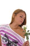 Η μυρωδιά κοριτσιών αυξήθηκε Στοκ Φωτογραφίες