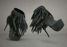 Η μόδα υψηλή βάζει τακούνια στη μετάβαση παπουτσιών Στοκ Φωτογραφία