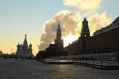 Η Μόσχα Κρεμλίνο το χειμερινό πρωί Στοκ εικόνα με δικαίωμα ελεύθερης χρήσης