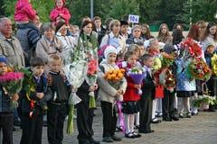 Πρώτη ημέρα του σχολείου Στοκ Φωτογραφίες