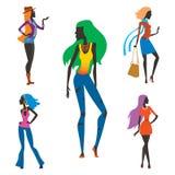Η μόδα φαίνεται όμορφοι θηλυκό γυναικών κοριτσιών σκιαγραφιών κοριτσιών και όμορφη, νέος, πρότυπος, ύφος, τρίχα, γοητεία γυναικεί Στοκ Εικόνα