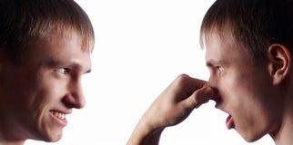 η μύτη ατόμων κολάζ ο ίδιος αρπάζει Στοκ εικόνα με δικαίωμα ελεύθερης χρήσης