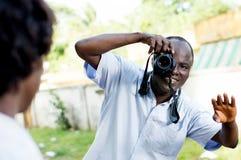 Η νέα λήψη φωτογράφων θέτει στο πρότυπό του Στοκ εικόνες με δικαίωμα ελεύθερης χρήσης