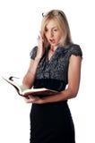 Η νέα γοητευτική επιχειρησιακή γυναίκα στοκ φωτογραφία