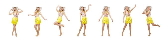 Η νέα γυναίκα στην έννοια μόδας στοκ εικόνα με δικαίωμα ελεύθερης χρήσης